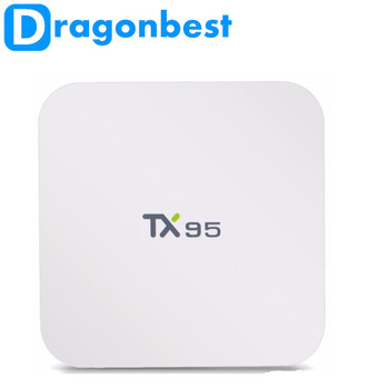Android 6.0 TV Box TX95 ТВ коробка S905X Quad Core 2.4 г/5 Двойной Wi-Fi 16.1 Bluetooth 4.1 4 К 1000 м Android TV Box 10 шт.