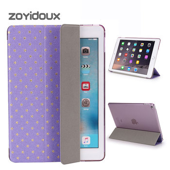 ZOYIDOUX for apple ipad mini 4 case pu leather smart wake up sleep with transparent PC back cover ultra slim flip stand mini 4