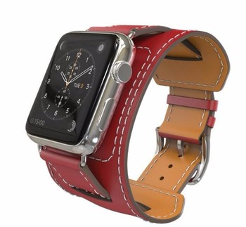 YIFALIAN 2016 New Top Quality Strap Cuff Leather Watchband for Apple Watch Band 42mm 38mm With Metal Adapters