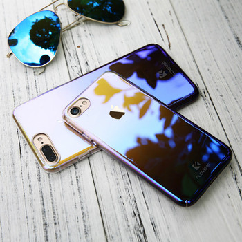 Floveme для IPhone X 8 Plus 5 5S SE Градиент Blue-Ray свет чехол для Apple iPhone 7 7 Plus 7 s 5S 5 Clear Аксессуары крышка