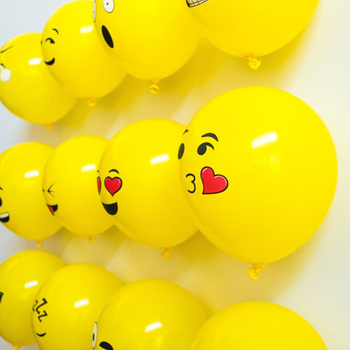 100 pcs/lot 12inch emoji latex balloons ballons expression ballon birthday party Emoticons helium ballon