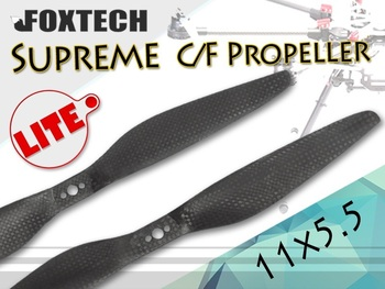 2 Pairs 1155 Foxtech верховный Lite C / F Carbonfiber CW / CCW винт ( 11 x 5.5 ) для QuadCoptor Multicopter FPV