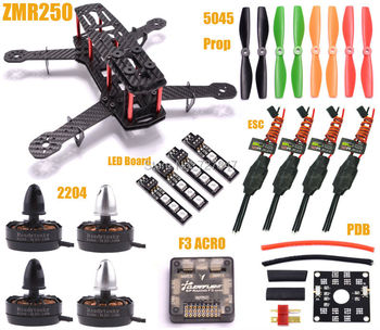 Мини ZMR250 H250 250 Quadcopter 2204 2300kv Двигателя 12A Esc F3 Acro Управления Полетом 5045 Пропеллер 7 Цвет 12 В LED доска
